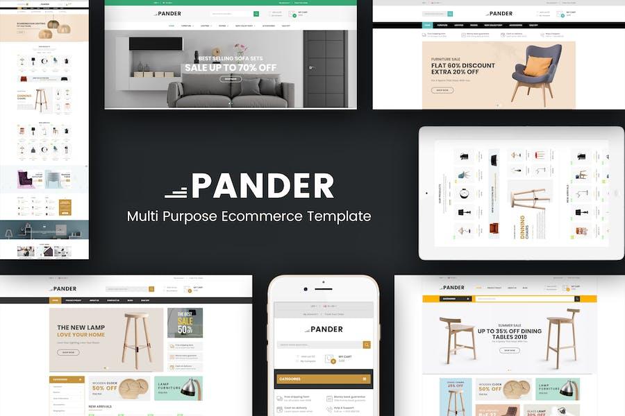 Pander - Mobiliario Responsivo OpenCart Tema