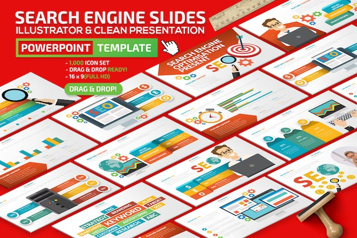 Thumbnail for Search Engine Powerpoint Presentation Template