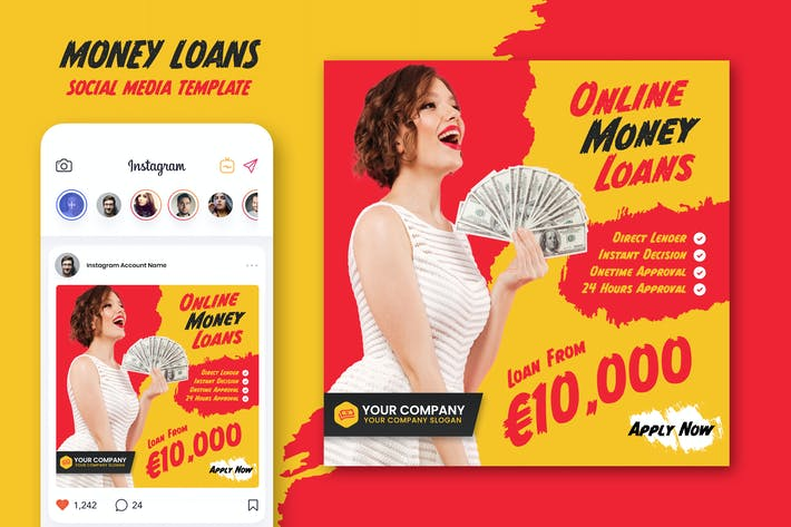 Thumbnail for Money Loan Social Media Template