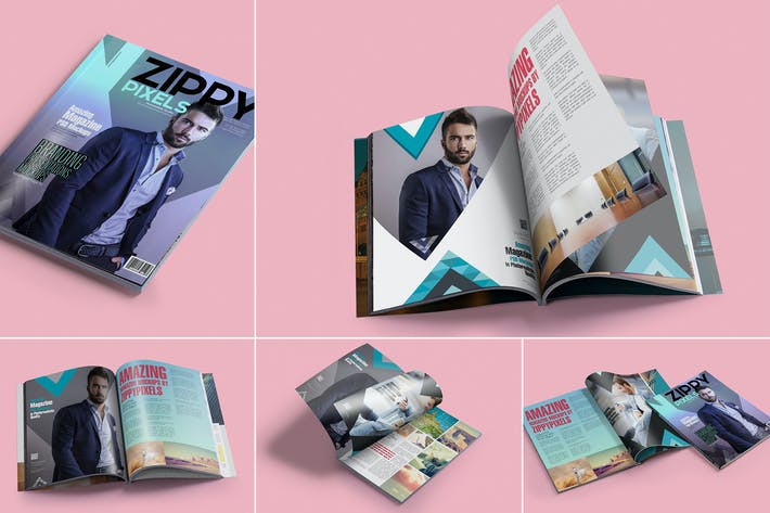 Cover Image For Magazine Design Mockups