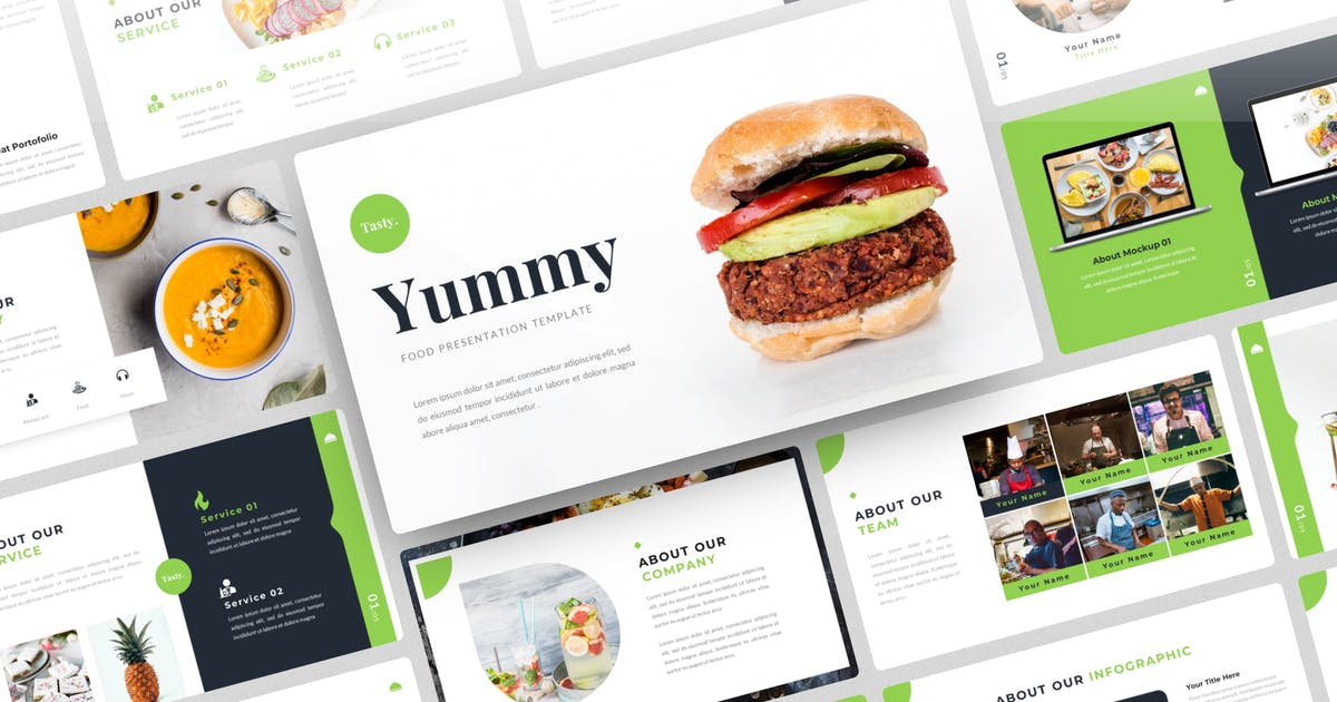 Download Yummy-Food PowerPoint Template by yossy1