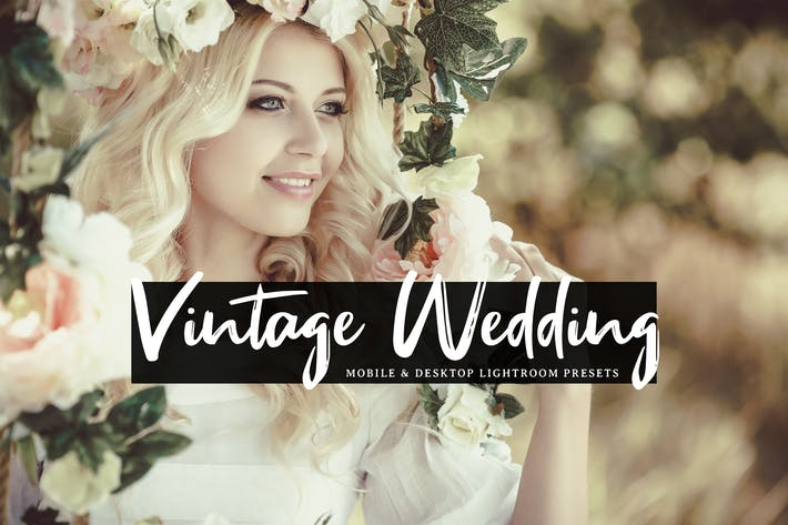 Thumbnail for Vintage Wedding Mobile & Desktop Lightroom Presets