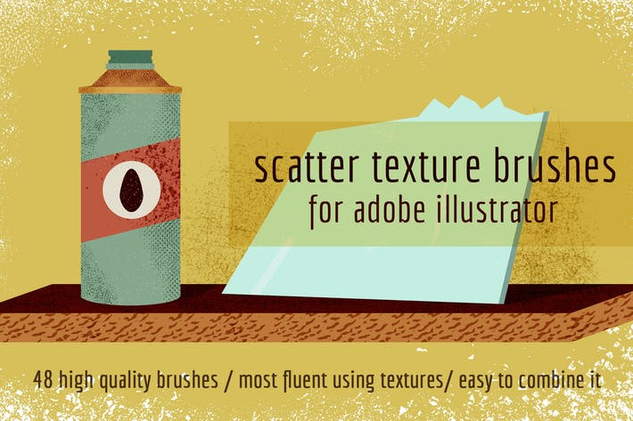 Scatter Texture Brushes for Adobe Illustrator
