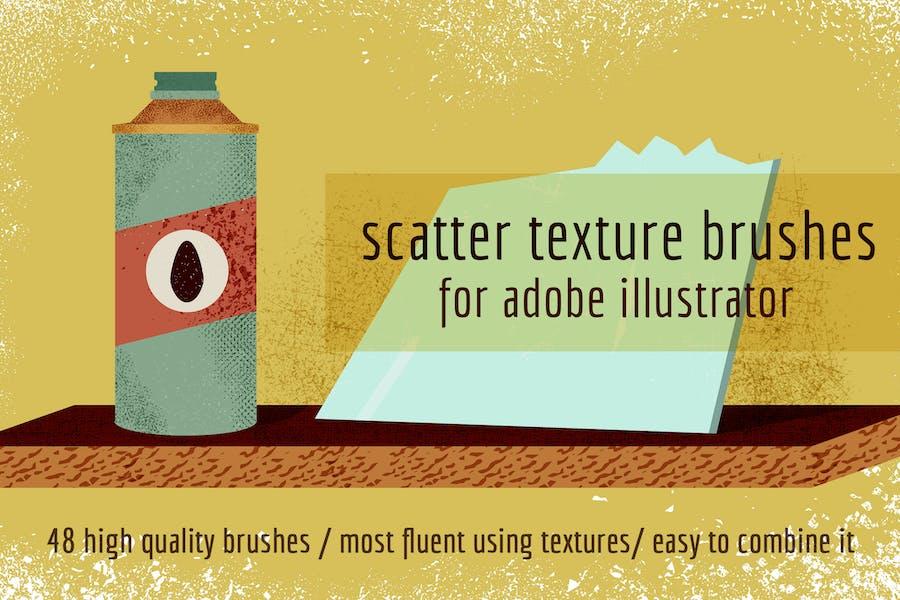 Scatter Texture Brushes for Adobe Illustrator