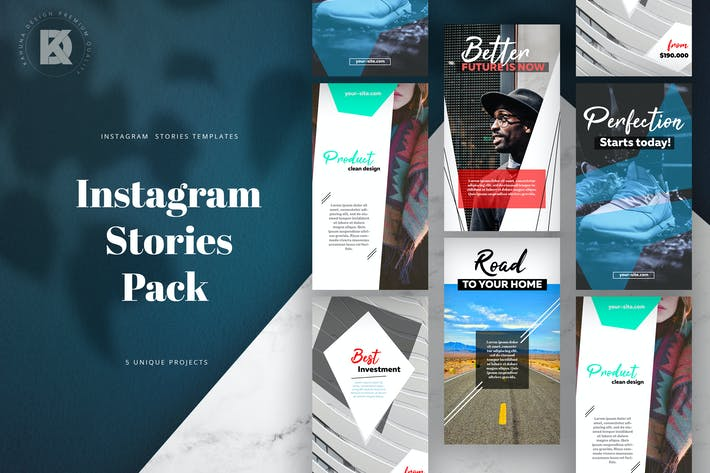 Thumbnail for Instagram Stories Elegant Pack