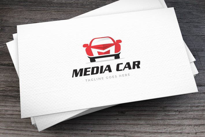 Thumbnail for Media Car Letter M Logo Template