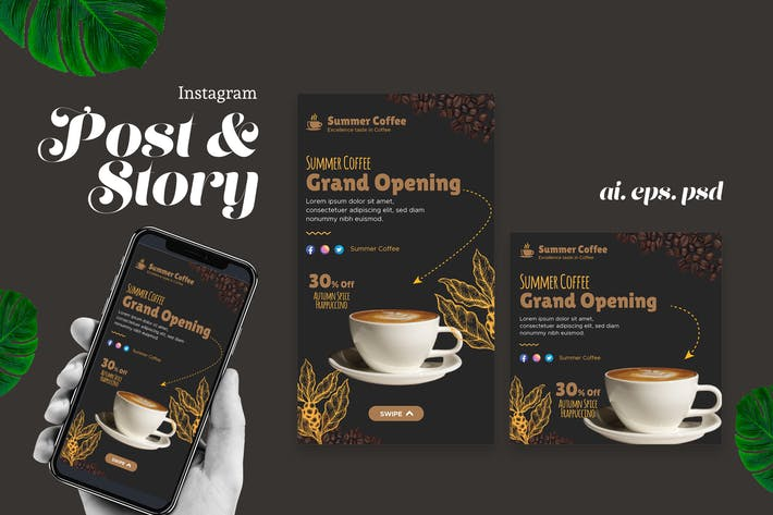 Thumbnail for Grand Opening Cafe IG Post Story