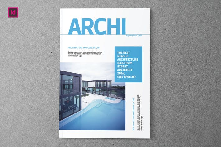 Thumbnail for ARCHI - Indesign Magazine Template