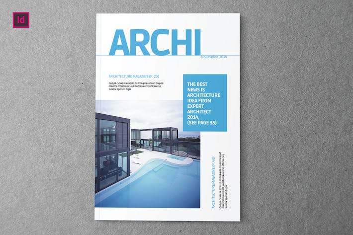 Archi Indesign Magazine Template by Shafura on Envato Elements