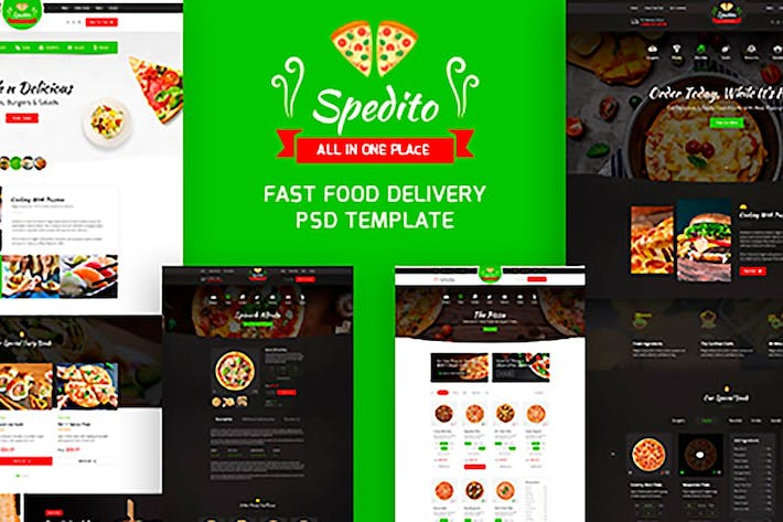 Thumbnail for Spedito - Ordering Fast Food PSD
