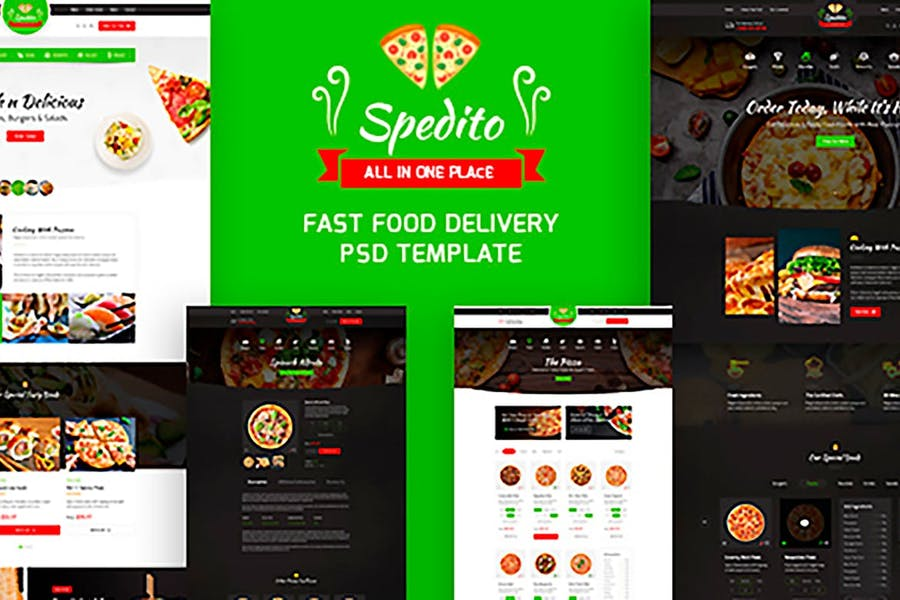 Spedito - Ordering Fast Food PSD