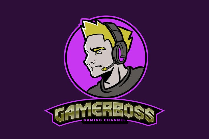 Thumbnail for Männlich Gamer oder Streamer E-Sport Gaming Logo Vol 3