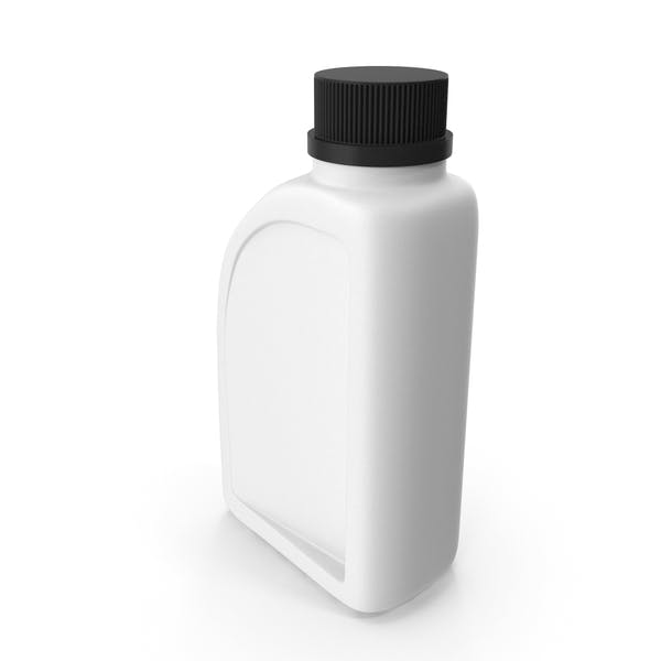 White Plastic Jerrycan with Black Cap