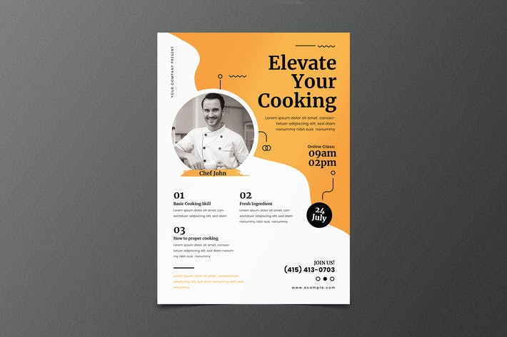 Thumbnail for Cooking Class Online Flyer