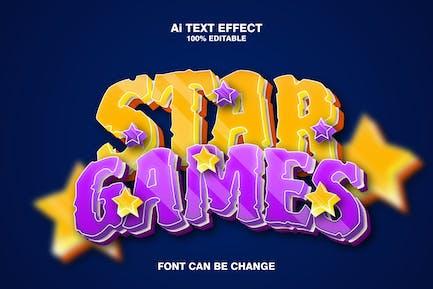 star games 3d text effect