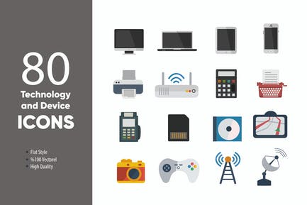 Technology and Device Vectorel Icons