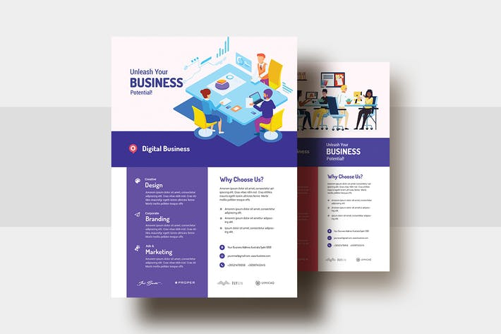 Thumbnail for Digital Agency & Business AD Flyer V-29