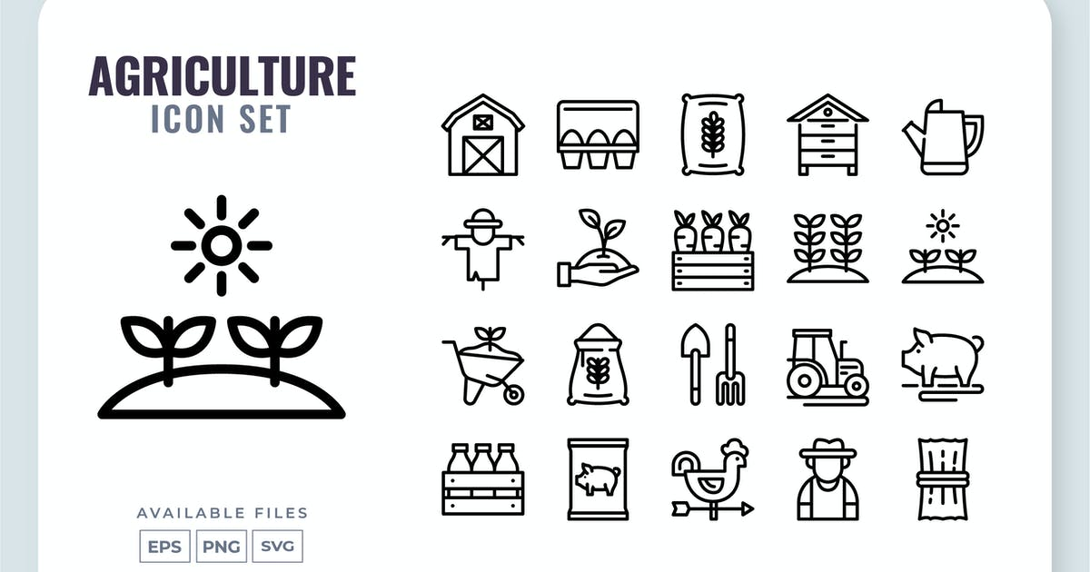 Download Agriculture Line Icon Set by yellowline_std