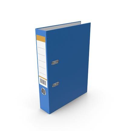Carpeta de documento azul