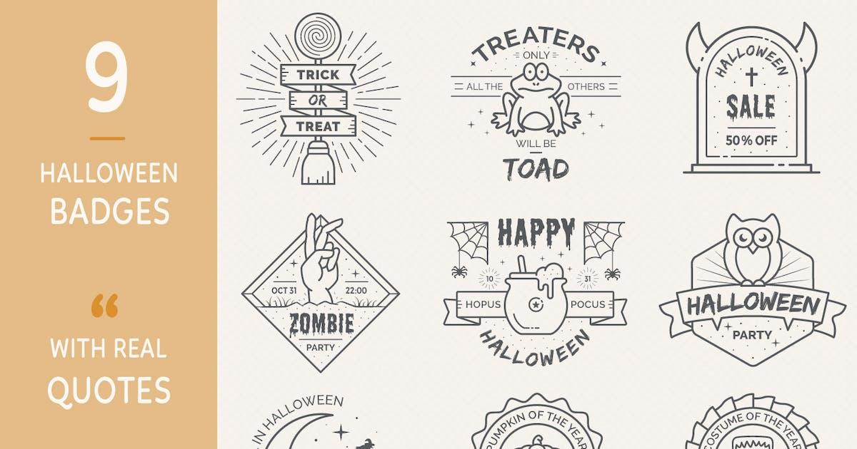 Download Halloween Badges - Outline Version by Sargatal