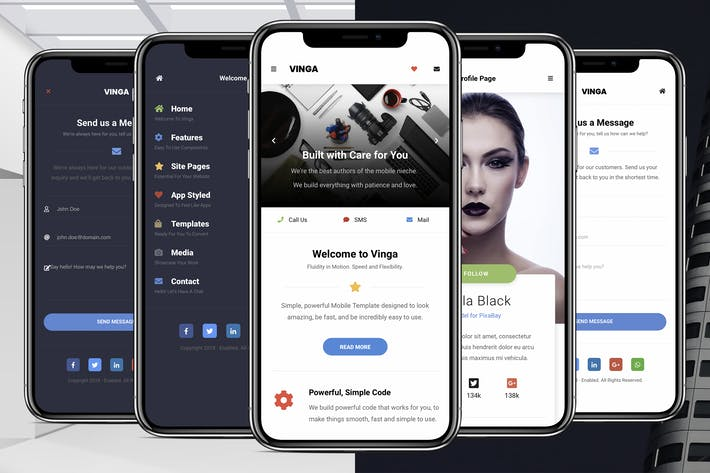 Thumbnail for Vinga Mobile | Mobile Site Template