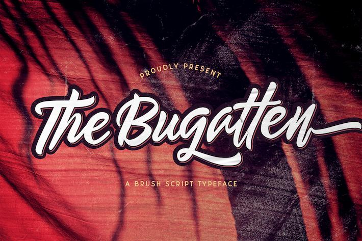 Thumbnail for El Bugatten - Fuente de script en negrita