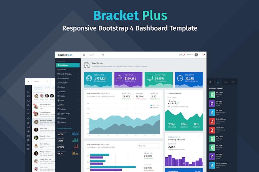 Bracket+ Responsive Bootstrap 4 Dashboard Template