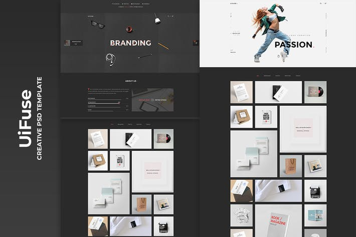 Thumbnail for UiFuse - Creative PSD Template