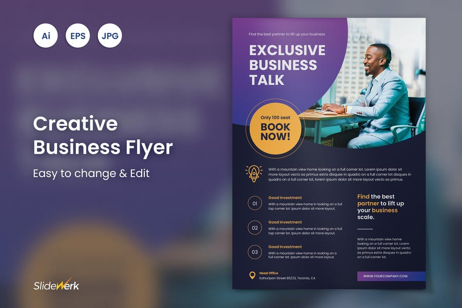 Creative Business Flyer 44 - Slidewerk