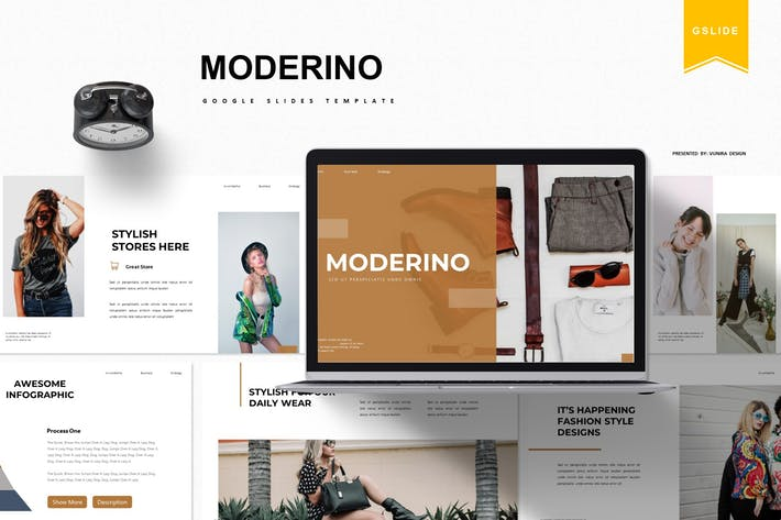 Thumbnail for Moderino | Google Slides Template