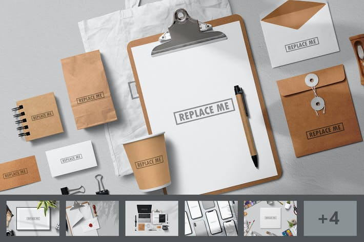 Thumbnail for Art & Branding Mockups Vol.1
