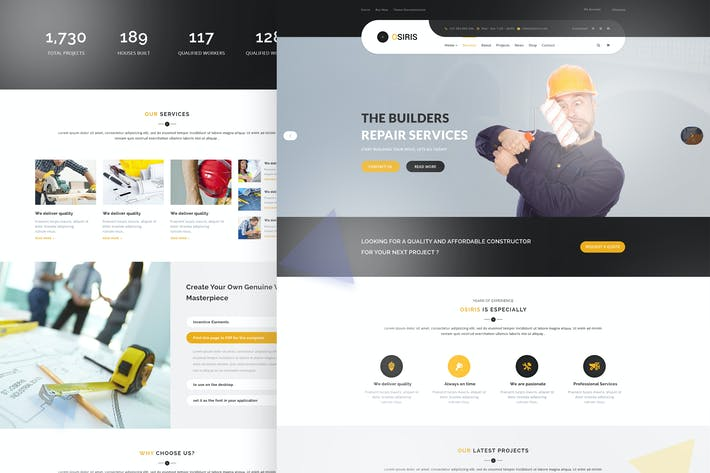 Thumbnail for Osiris - Construction PSD Template