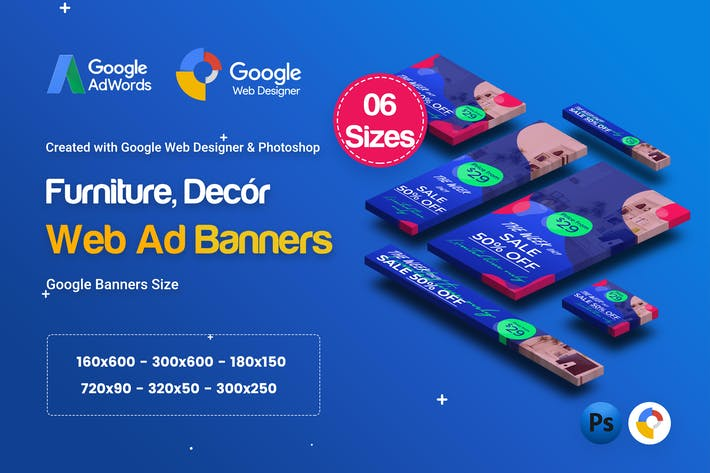 Thumbnail for C03 - Furniture, Decor Banners Ad GWD & PSD