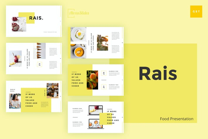 Thumbnail for Rais - Food Google Slides Template