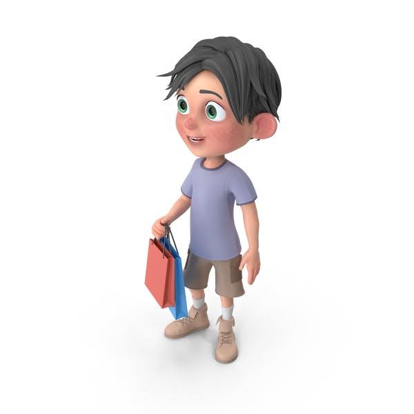 Thumbnail for Cartoon Boy Jack Shopping