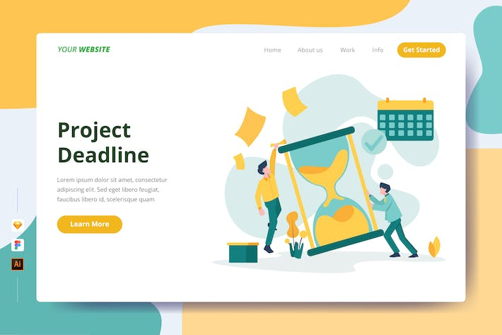 Thumbnail for Project Deadline - Landing Page