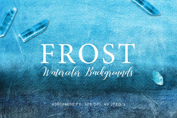 Thumbnail for Frost Watercolor Backgrounds