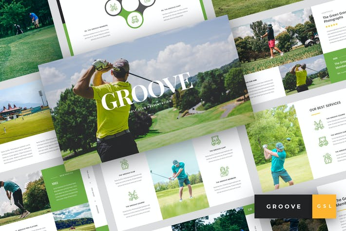 Thumbnail for Groove - Golf Club Google Slides Template