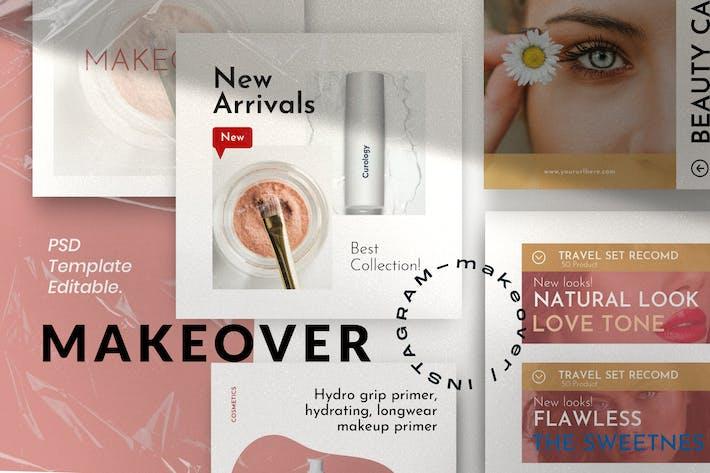 Makeover Pack 1 - Modèle de médias sociaux Instagram