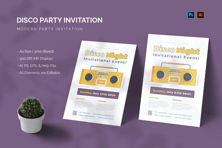 Disco Night - Invitation Party