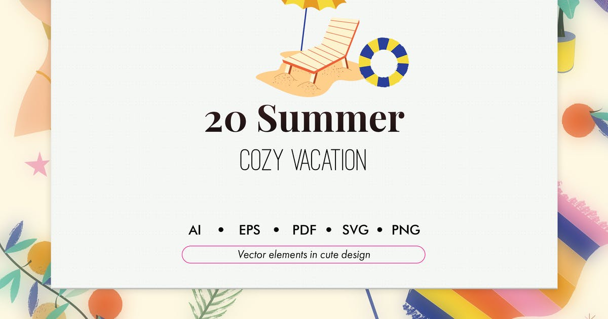 Download 20 Summer vacation elements pack by Chanut_industries
