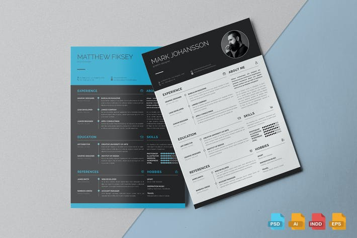 Thumbnail for Clean Resume Template Vol.1