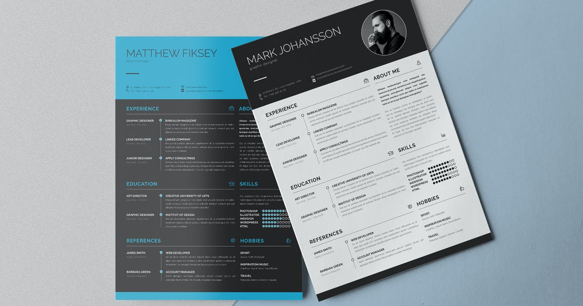 Download Clean Resume Template Vol.1 by Unknow