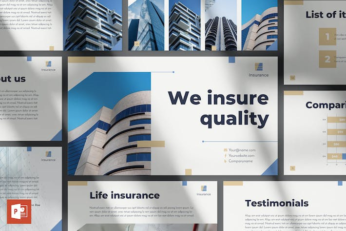 Thumbnail for Insurance Agency PowerPoint Presentation Template