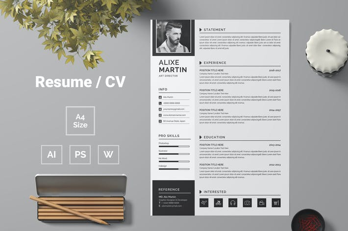 Thumbnail for Resume Template 68