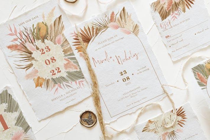 Bohemian Dried Foliage Wedding Suite