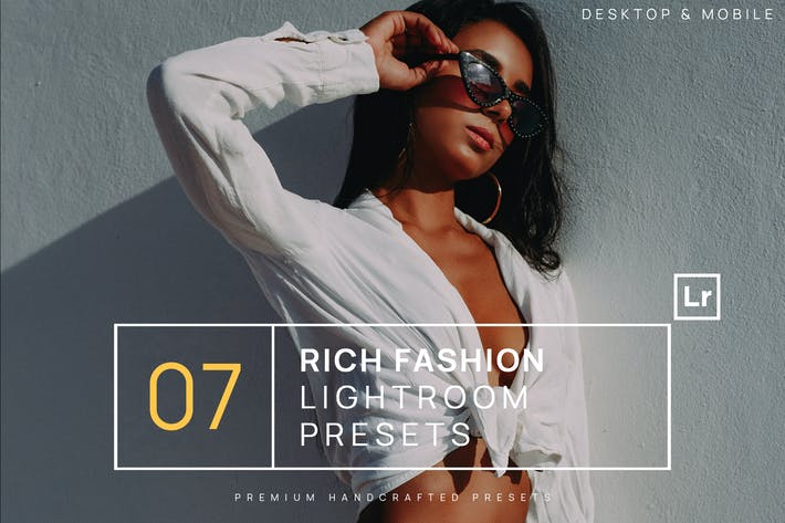 Thumbnail for 7 Rich Fashion Lightroom Presets + Mobile