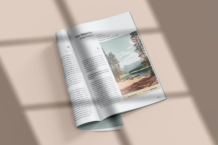 Thumbnail for Magazine Mock-Up Template