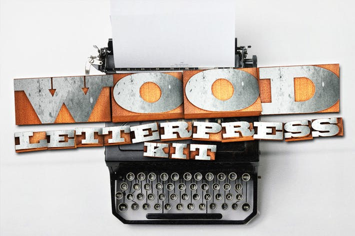 Cover Image For Wood Letterpress Kit
