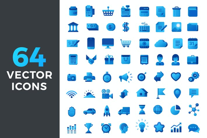 Thumbnail for Vector Icons Flat Blue style